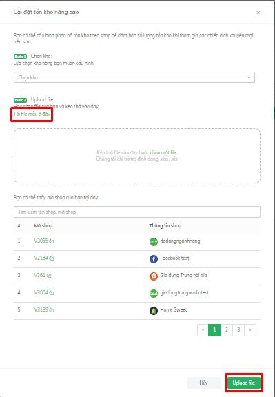 update file nhiều sản phẩm vào ứng dụng tồn kho nâng cao của Omisell